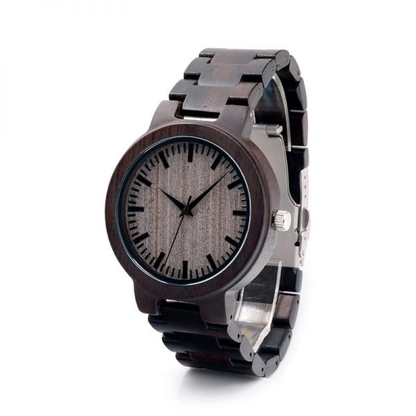 BOBO Bird Ebony Mens Wooden Watch
