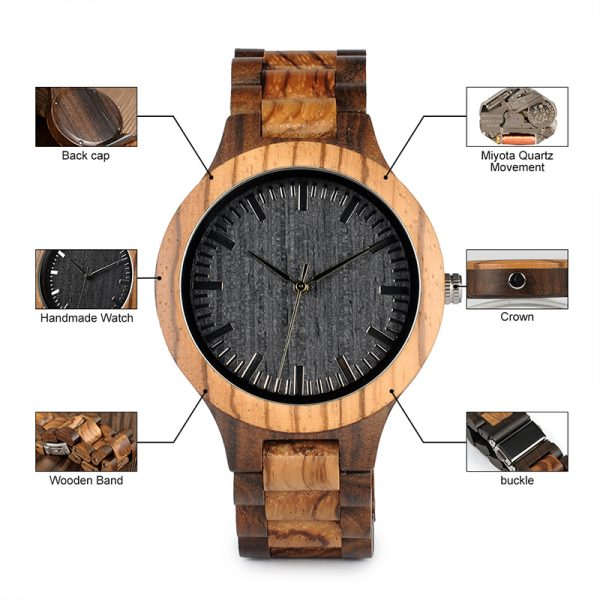 The Tirana Mens Wooden Watches UK