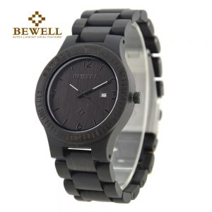 Bewell Santiago Mens Wooden Watch UK 1