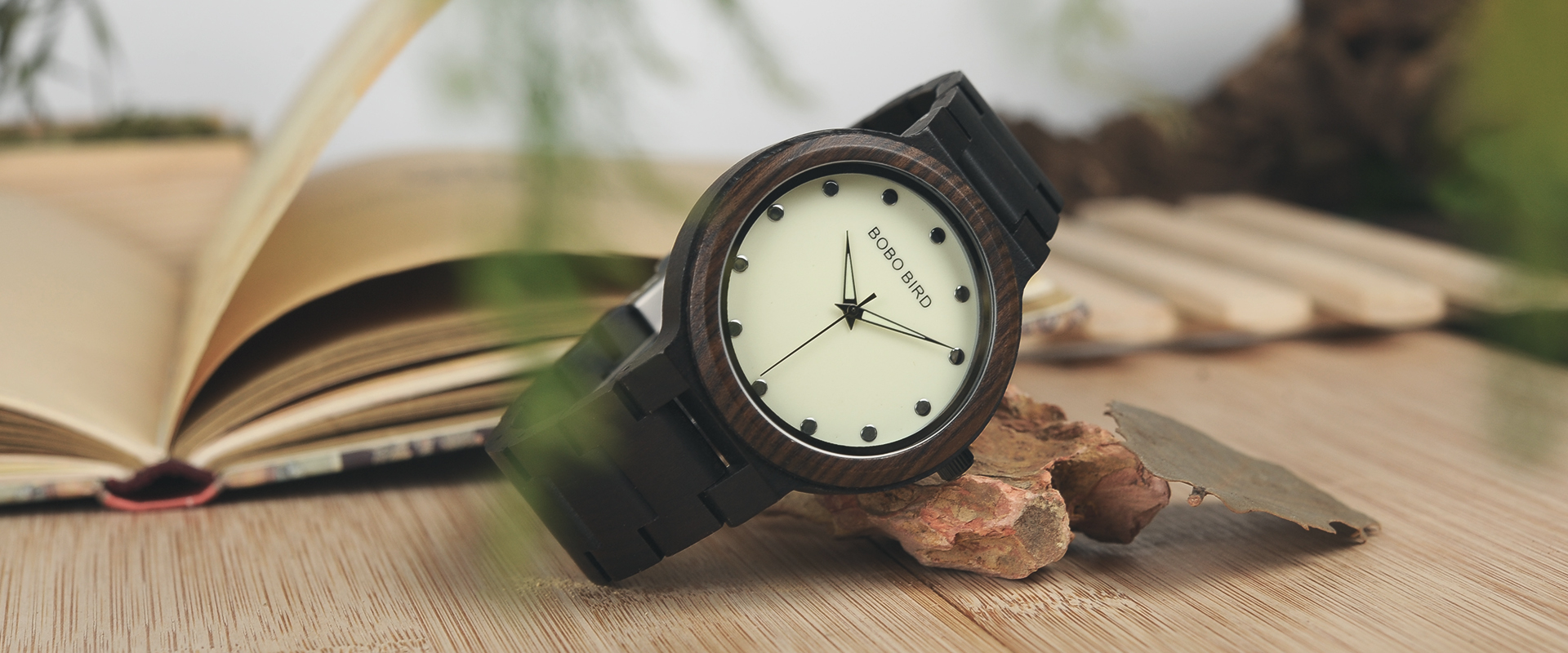 wooden watch shop main image brown wood watch uk