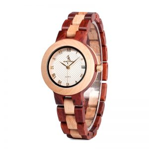 The Minsk Womens Wooden Watch UK 1