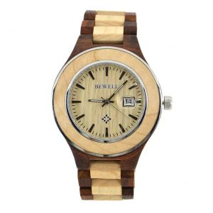 Bewell Paris Mens Ladies Couples Wooden Watch UK