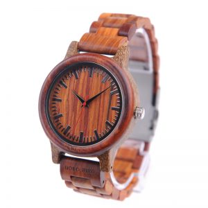 bobobird hanoi red sandalwood lightweight wooden watch wood strap quartz analog buy shop uk