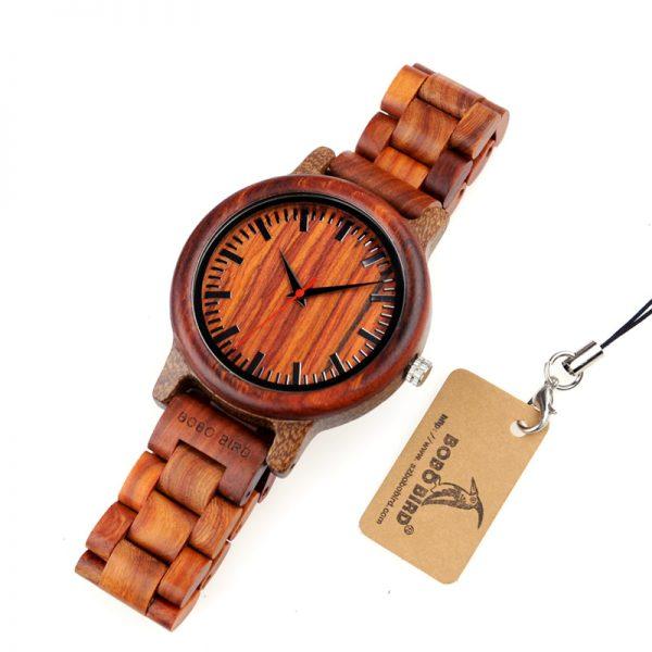 bobobird hanoi red sandalwood lightweight wooden watch wood strap quartz analog buy shop uk