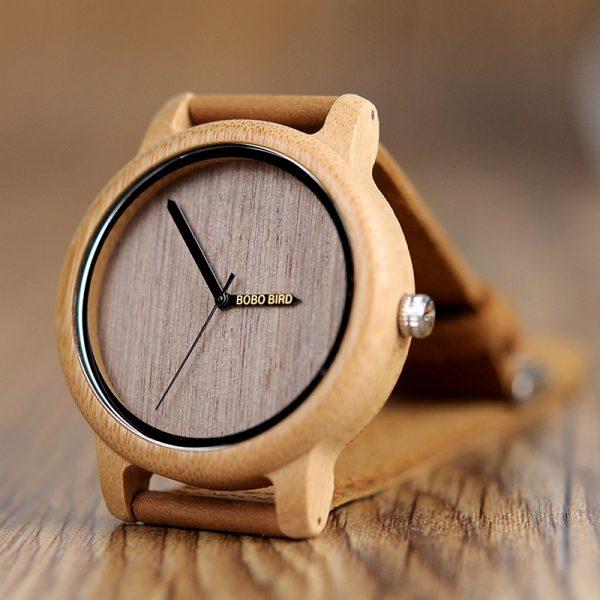 bobobird lima mens womens ladies unisex wooden watch bamboo wood uk