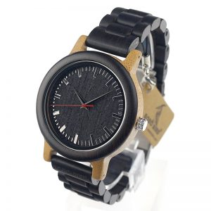 bobobird sofia mens wooden watch black bamboo wood strap analog quartz buy shop uk