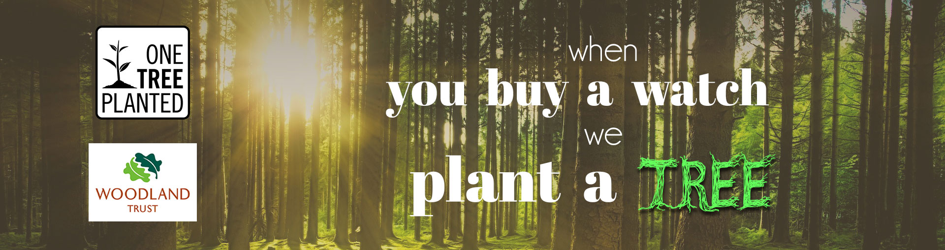 buy a wooden watch plant a tree
