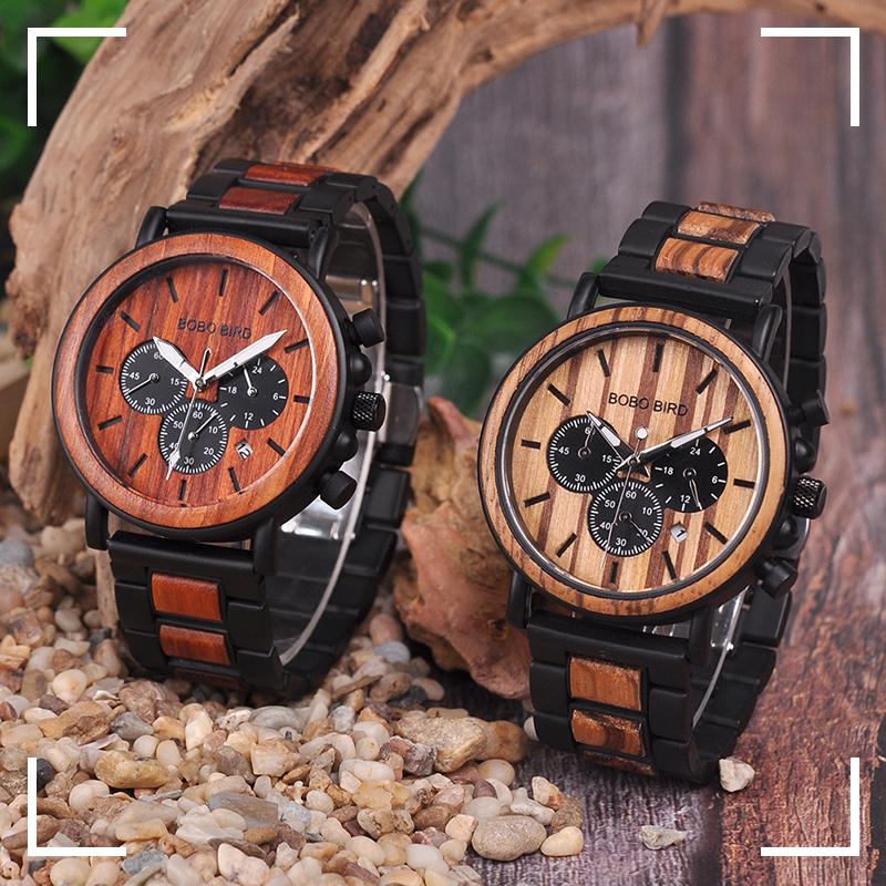 for him mens wooden watch wood strap buy shop uk