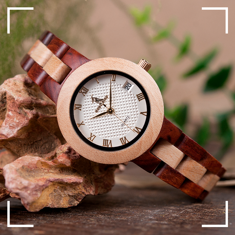 womens ladies wooden watch wood strap buy shop uk