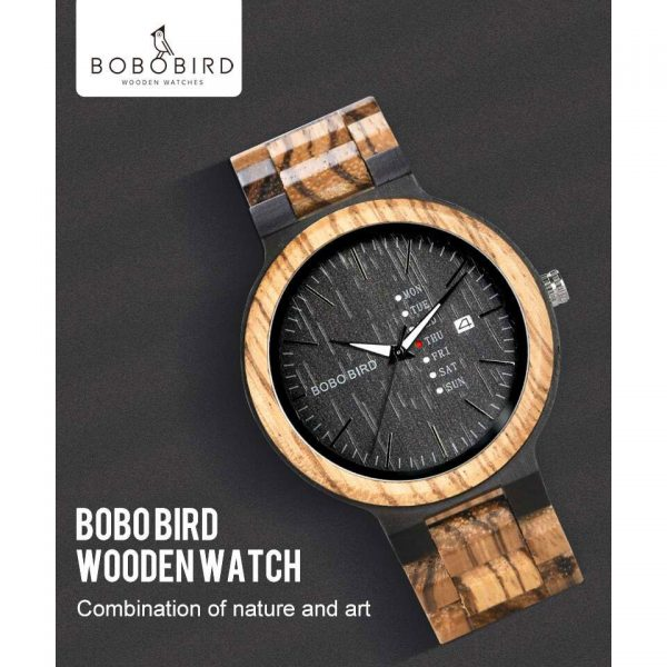 Bobo Bird Prague Mens Wooden Watch