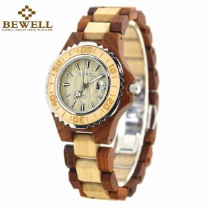 Bewell Ostrava Womens Wooden Watch UK 1