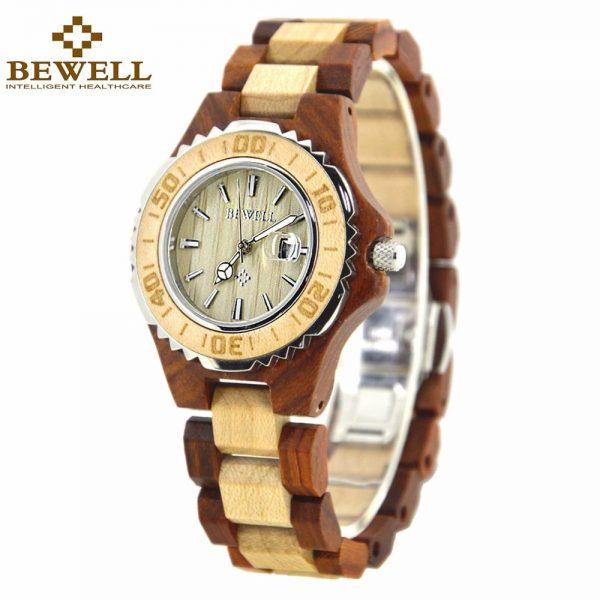 Bewell Ostrava Womens Wooden Watch UK 1