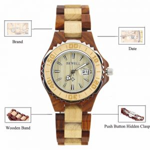 Bewell Ostrava Womens Wooden Watch UK 2