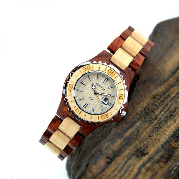 Bewell Ostrava Womens Wooden Watch UK 3