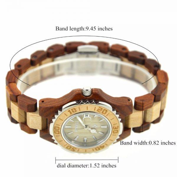 Bewell Ostrava Womens Wooden Watch UK 5