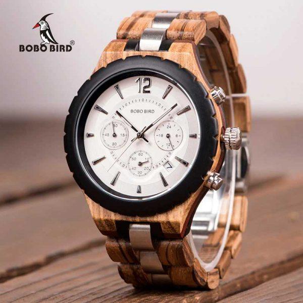 bobobird venice mens engraved wood watch uk
