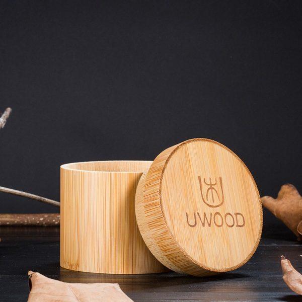 uwood mens wooden box wood watch