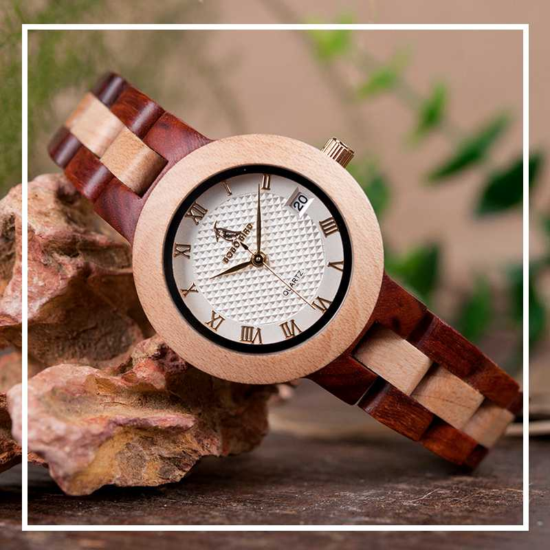womens ladies wooden watch with wood strap buy shop uk