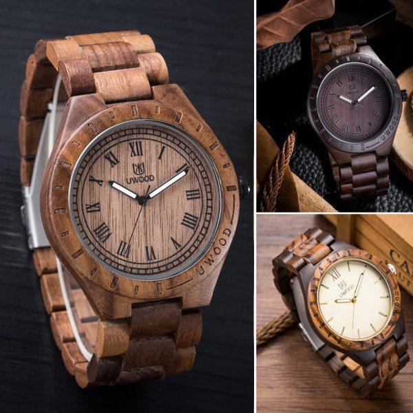 uwood edinburgh mens wooden watch uk