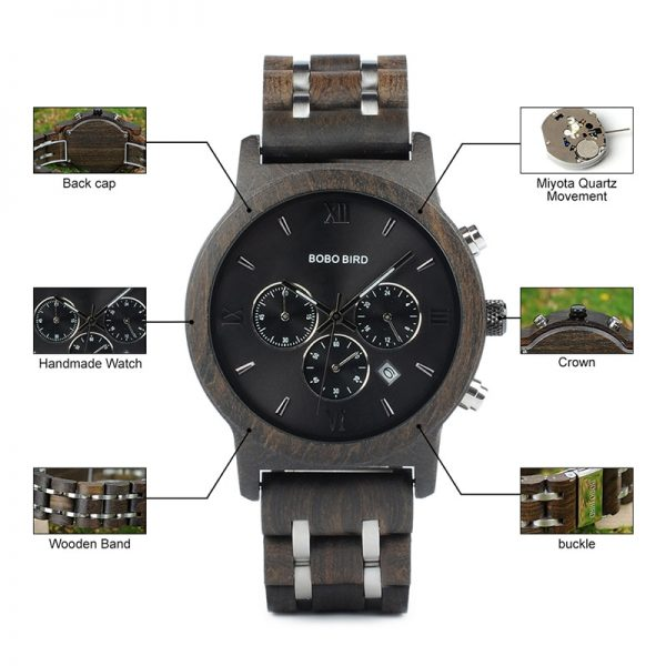 Bobo Bird Marseille Mens Wooden Watch UK 3