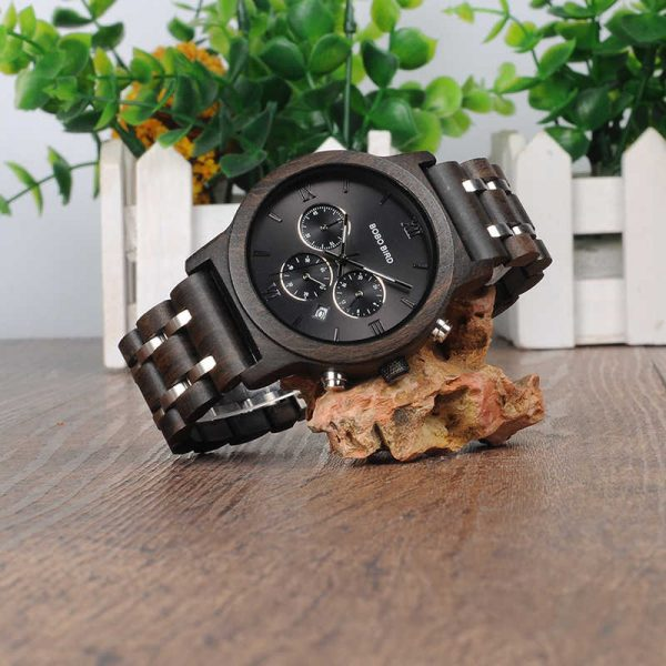 Bobo Bird Marseille Mens Wooden Watch UK 6