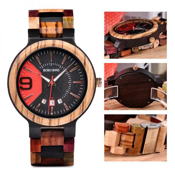 bobobird miami mens engraved wooden watch uk