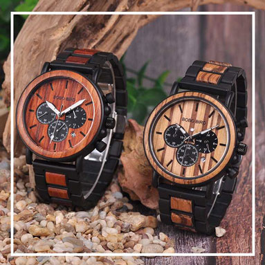 mens wooden watch with wood strap buy shop uk