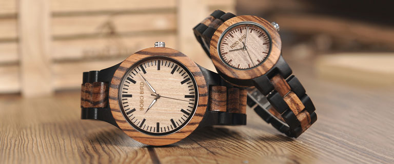wooden watch shop banner