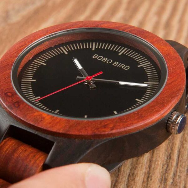 bobo bird madrid mens wooden watch engraved uk