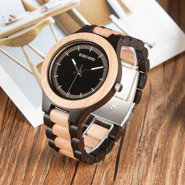 bobo bird madrid mens wooden watch personalised uk