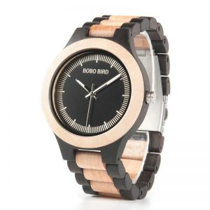 bobo bird madrid mens wooden watch custom engraving uk