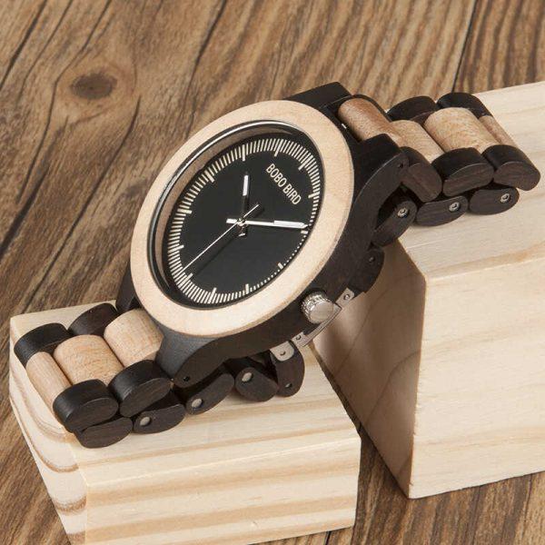 bobo bird madrid mens custom engraved wooden watch uk