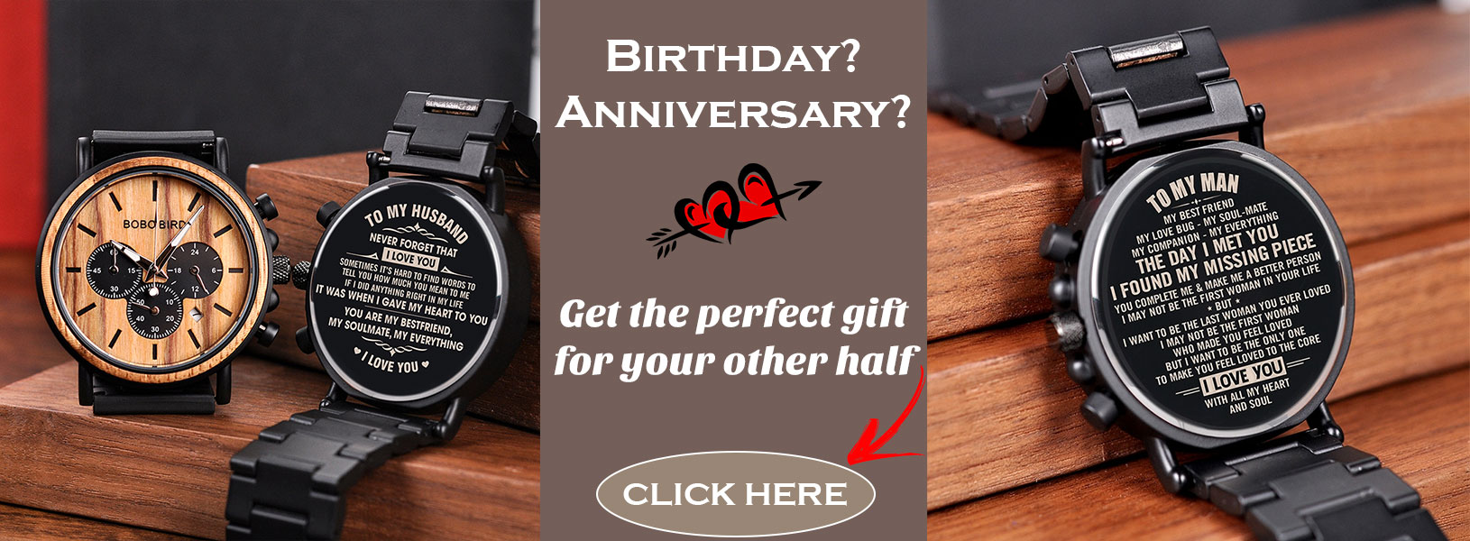 birthday anniversary gift bobo bird wooden watch uk