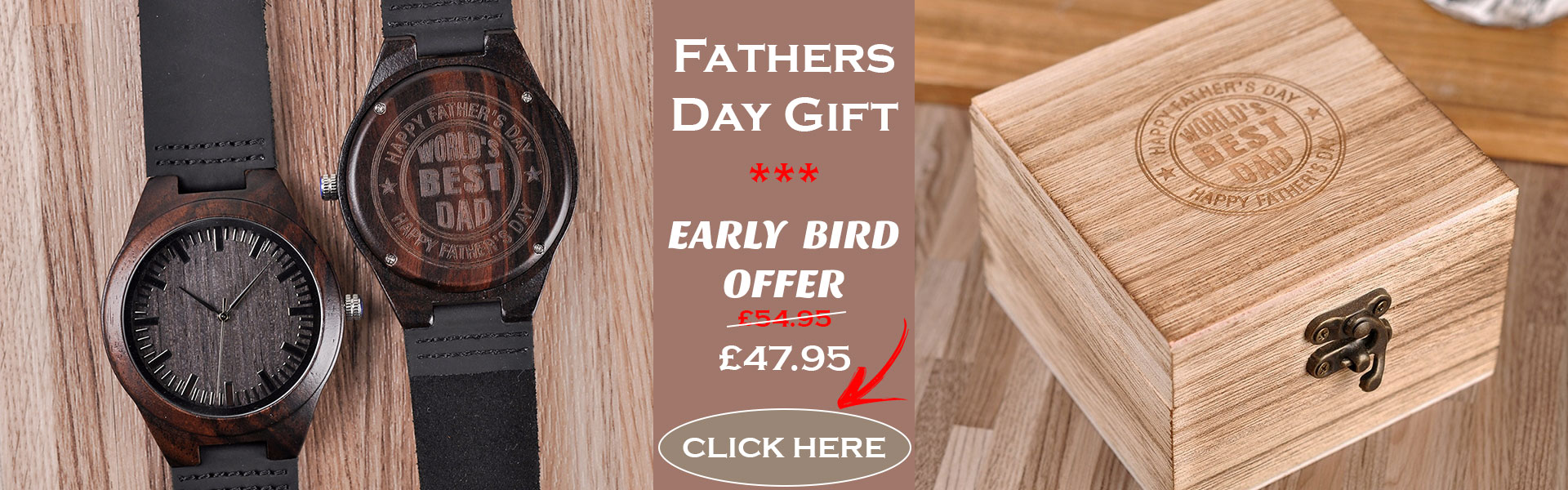 fathers day offer bobo bird wooden watch uk