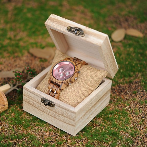 The Athena Womens Wooden Watch UK 1