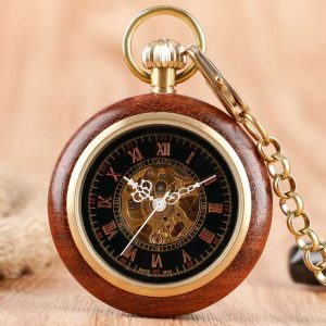 caifu wooden pocket watch uk 1