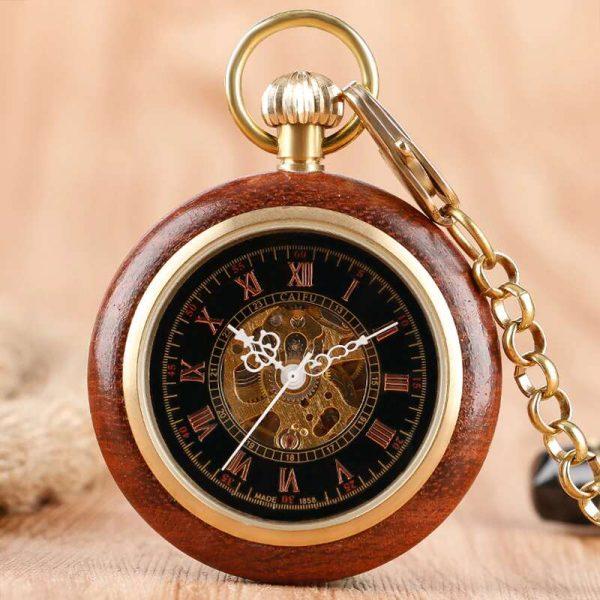 caifu wooden pocket watch uk 1