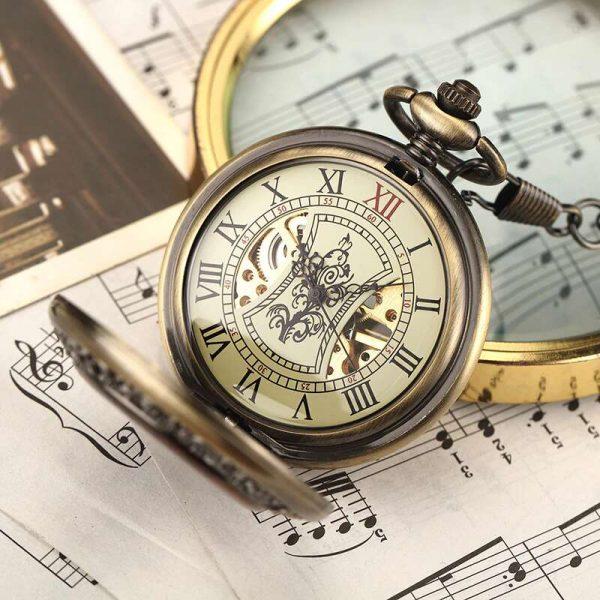 gorben wooden bronze pocket watch uk 1
