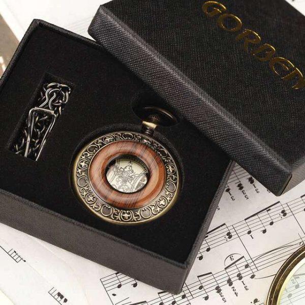 gorben wooden bronze pocket watch uk 3