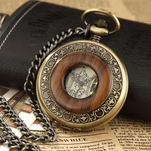 gorben wooden bronze pocket watch uk 4
