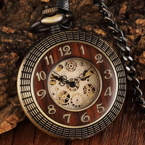 gorben wooden vintage pocket watch uk 2
