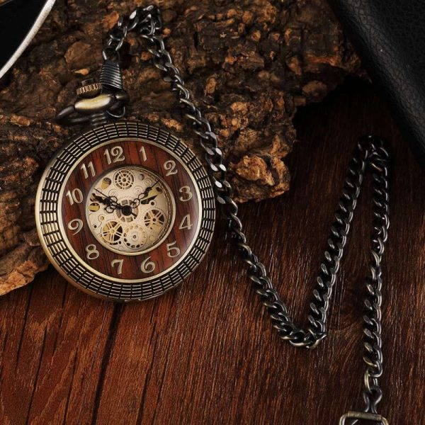 gorben wooden vintage pocket watch uk 3