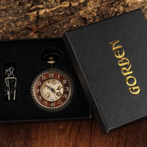 gorben wooden vintage pocket watch uk 5