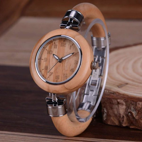 bewell genoa womens wooden watch uk 12