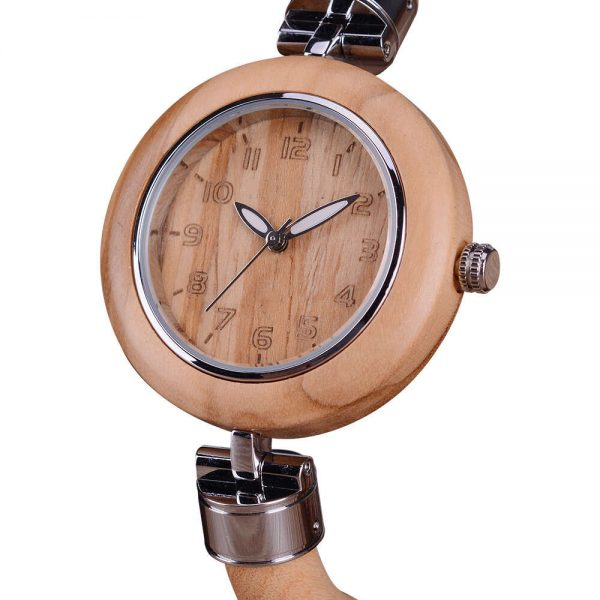 bewell genoa womens wooden watch uk 17