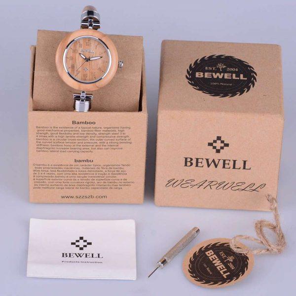 Bewell Genoa Womens Wooden Watch UK 3