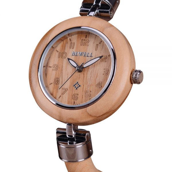 Bewell Genoa Womens Wooden Watch UK 7