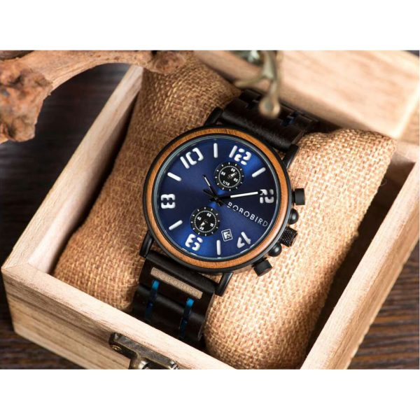 Bobo Bird Vegas Mens Wooden Watch UK 12