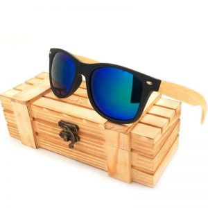 Bobo Bird Wooden Sunglasses Blue