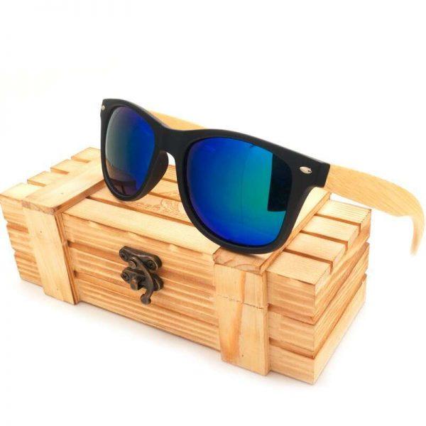 Bobo Bird Wooden Sunglasses Blue